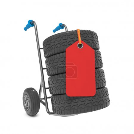 Tires on Hand Truck