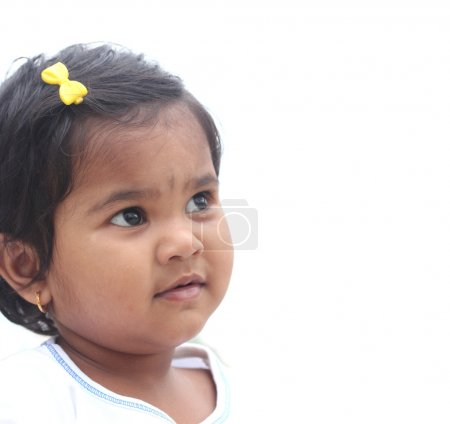 Photo of pretty and happy indian girl child. The picture can be