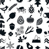 Doodle seamless nature pattern