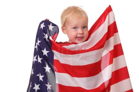 Child with USA flag