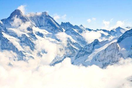 Photo pour Partie de la région de Jungfrau dans les Alpes suisses, Suisse - image libre de droit