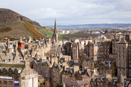Photo for Edinburgh Skylines building Scotland UK from Monument - Royalty Free Image