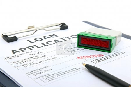 Photo for Business concept the process of loan application contract approved - Royalty Free Image