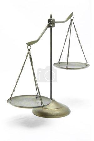 Ungleichgewicht der goldenen Waage