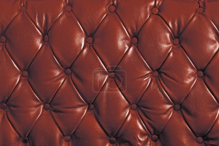 Red genuine leather