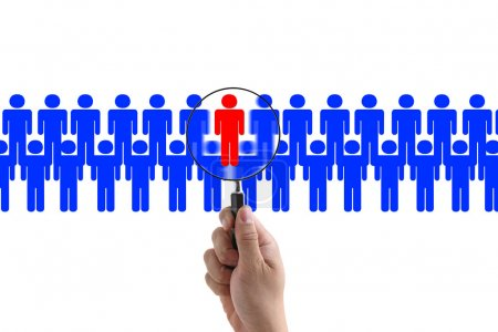 Photo for Choosing the Right Person employee for business recruitment - Royalty Free Image