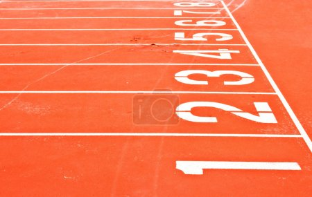 Photo for Starting Grid of Race Track in Stadium - Royalty Free Image
