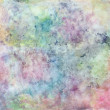 Abstract free hand drawing from watercolor techniq...