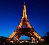 PARIS - APR 20: Eiffel Tower