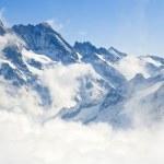 Alpine Alps mountain landscape at Jungfraujoch, To...
