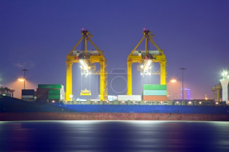 Loading Goods Container to ship
