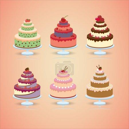 Ilustración de Pastel de boda juego - Imagen libre de derechos