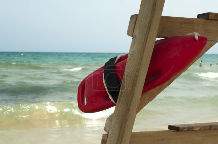 Red buoy for a lifeguard to save