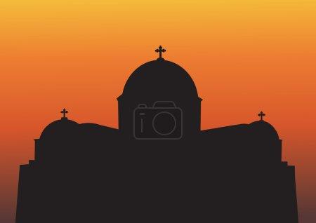 Greek Church Silhouette