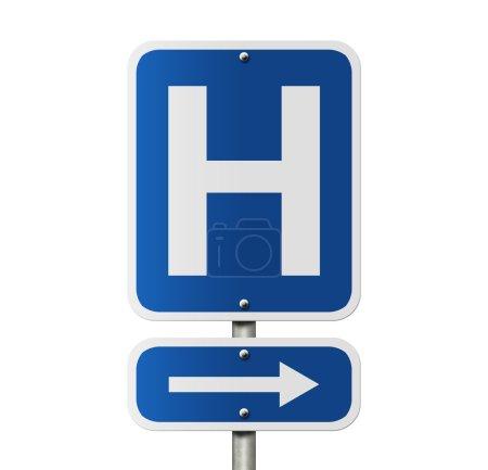 panneau hôpital