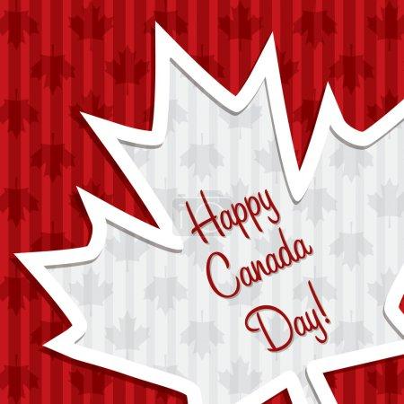Photo pour Bonne fête du Canada, carte autocollante rouge - image libre de droit