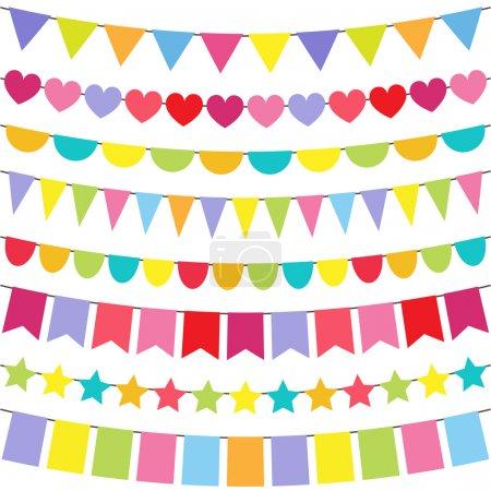 Photo pour Set de banderoles colorées et lumineuses de Vector - image libre de droit