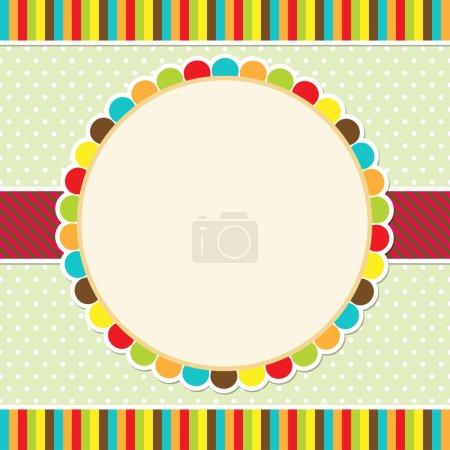 Photo pour Conception de carte colorée - image libre de droit