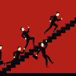 Businessman Stair Competition...