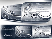 2 different Business cards with icon and text