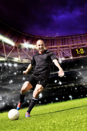 Photo for Soccer or football player on the field - Royalty Free Image
