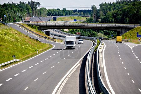 Outdoor shut of a stretch of motorway in Germany...