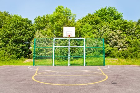 Photo for A modern basketball court in the UK - Royalty Free Image