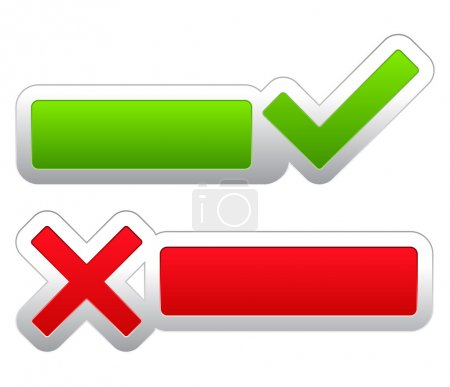 Illustration pour Symboles de contrôle et croix, illustration vectorielle eps10 - image libre de droit