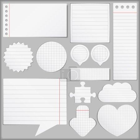 Illustration pour Set d'objets en papier, illustration vectorielle eps10 - image libre de droit