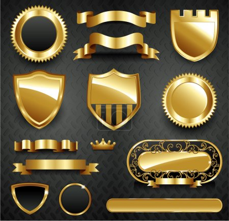 Decorative ornate gold frame collection
