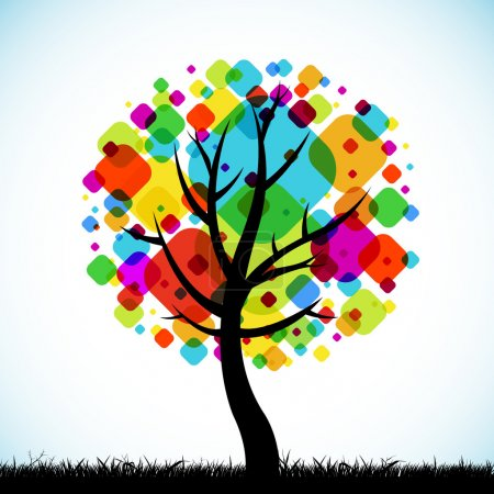 The abstract tree colorful background