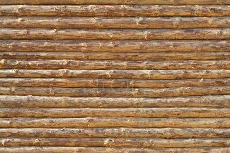 Photo pour Mur de la maison rurale en rondins de bois. Texture sans couture - image libre de droit
