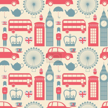 Photo for Seamless pattern with London symbols. - Royalty Free Image