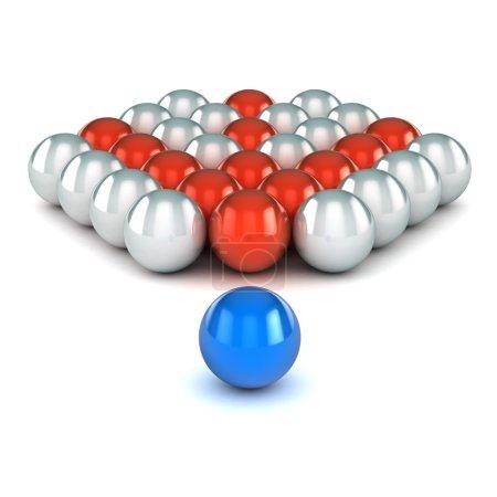 Foto de Una ilustración colorida del concepto del éxito renderizado 3d - Imagen libre de derechos