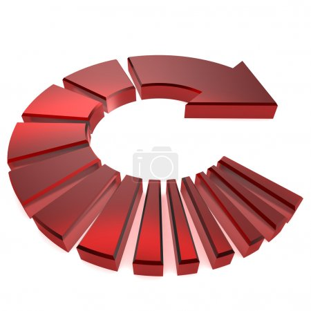 Red Circular Arrow