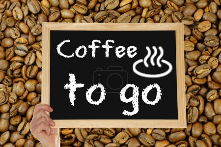 Photo for Blackboard with the words coffee to go - Royalty Free Image