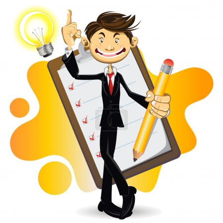 Smart Businessman Done With His Checklist