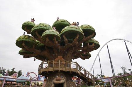 Photo pour Sesame street est un parc d'attractions Porta aventura zone - image libre de droit
