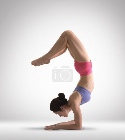 Asian Chinese Lady doing Yoga
