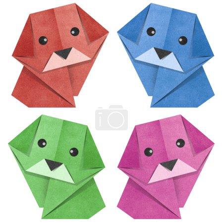 Foto de Perro de origami de papel reciclado - Imagen libre de derechos