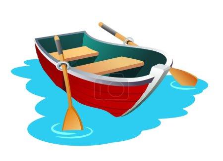 Small row boat