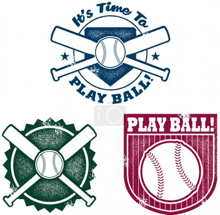 Vintage Style Baseball or Softball Stamps