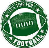 Classic style stamp declaring that it is time for football