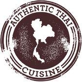 Authentic Thai Food Stamp