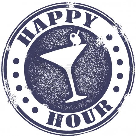 Happy Hour Cocktail Stamp