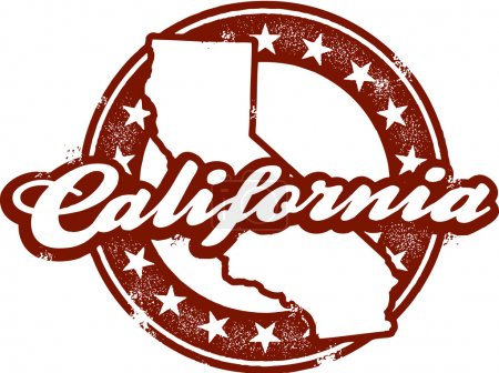 Vintage California Stamp