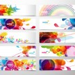 Set of abstract colorful web headers....