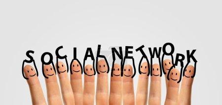 Finger keep social network