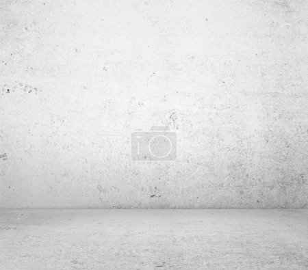 Photo for White concrete wall and floor closeup - Royalty Free Image