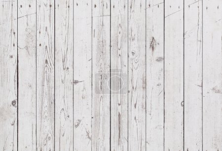 Photo for Vintage white wooden wall background - Royalty Free Image